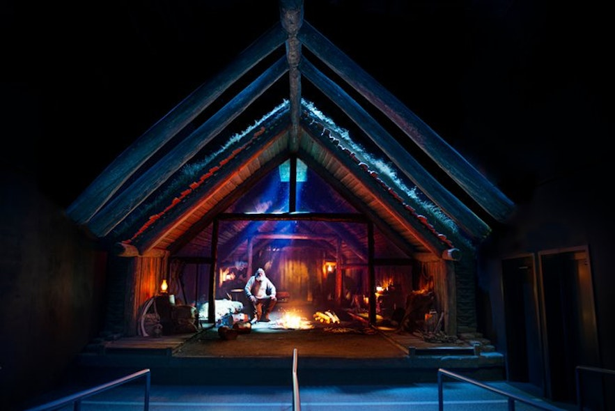 The viking longhouse at FlyOver Iceland