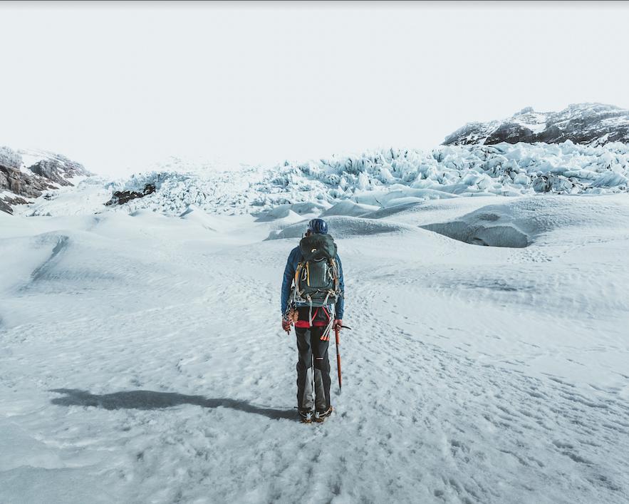 冰川徒步是最易参加的冰岛特色户外项目