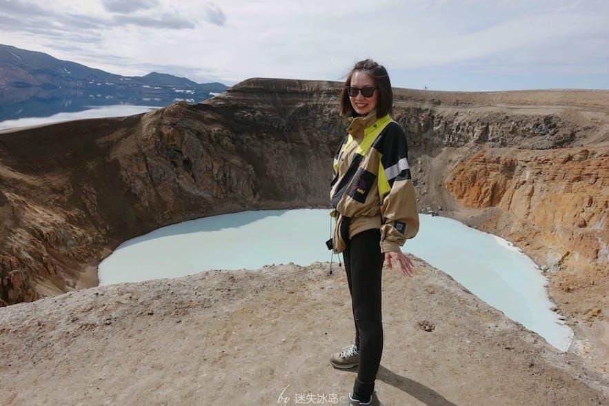 阿斯基亚火山的Víti火山湖