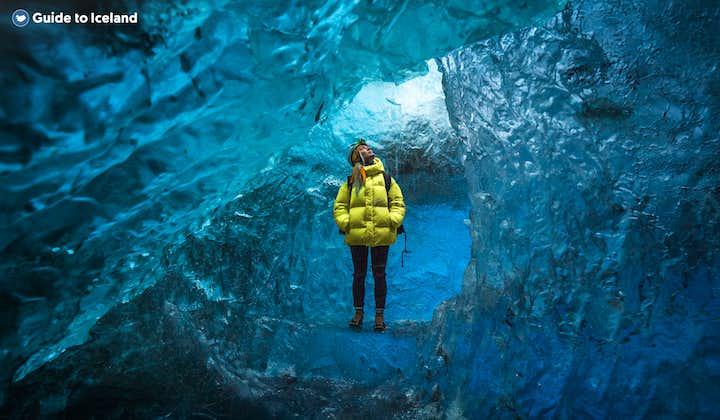 Rundtur till isgrotta vid glaciären Vatnajökull   Avresa från Jökulsárlón