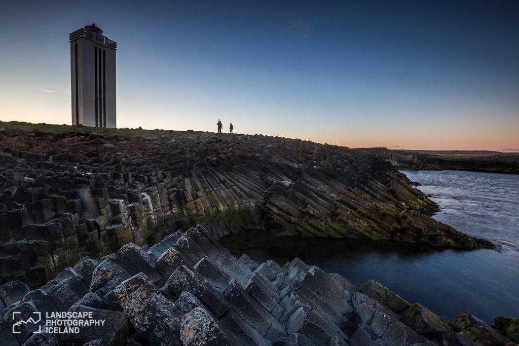 Kálfshamarsvík lighthouse.