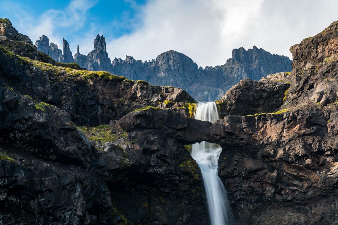 Flögufoss waterfall.