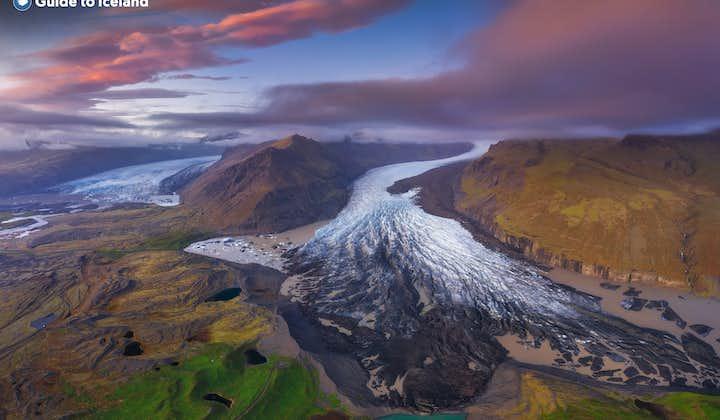 A glacial tongue in Vatnajokull National Park