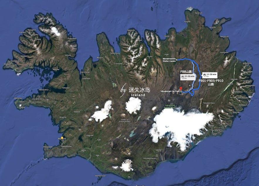 从米湖到阿斯基亚火山