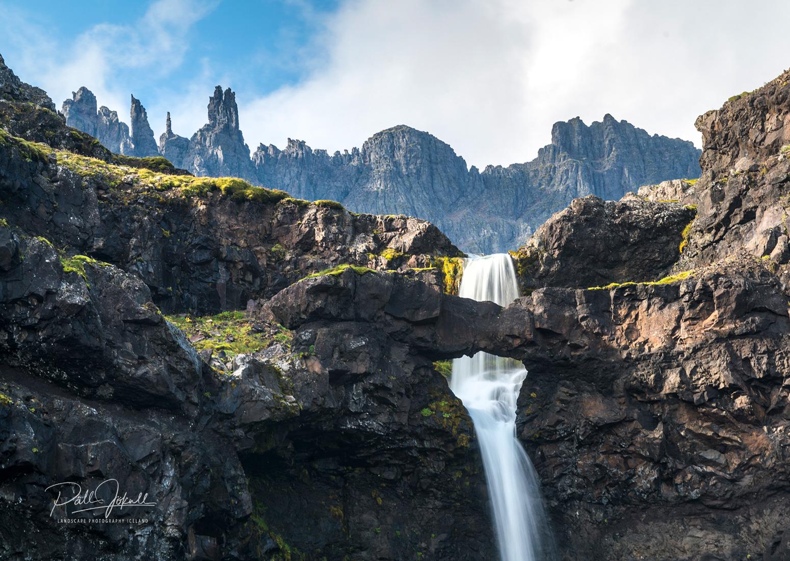 Flögufoss waterfall in the East of Iceland
