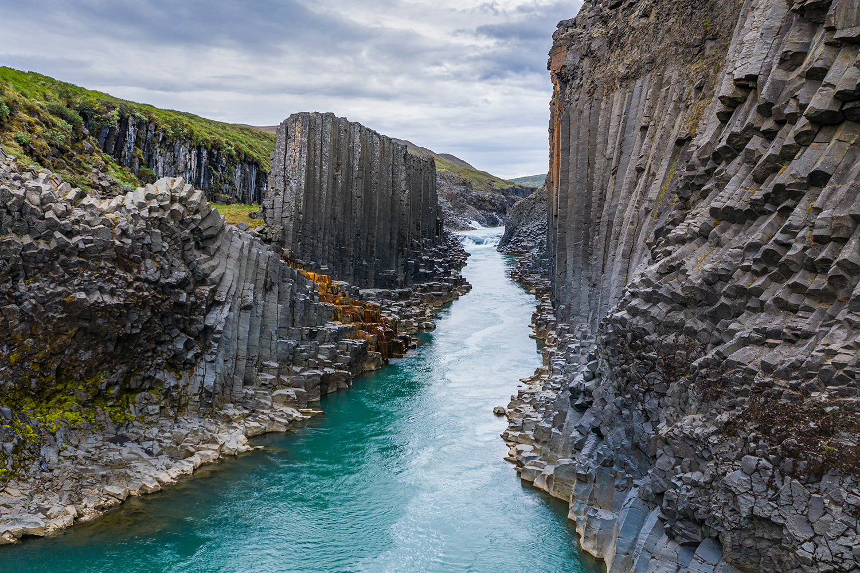 Stuðlagil canyon.