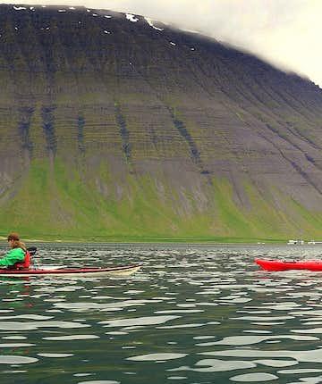 Calm Water Kayaking by Ísafjörður in the Westfjords - the Kayaking Centre of Iceland