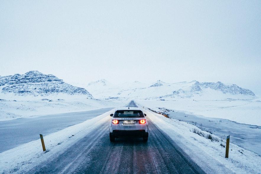 冰島冬季無風暴情況下的基本路況