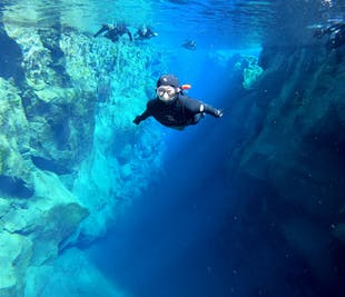 Wetsuit Snorkeling Tour in Silfra with Underwater Photos | Transfer included