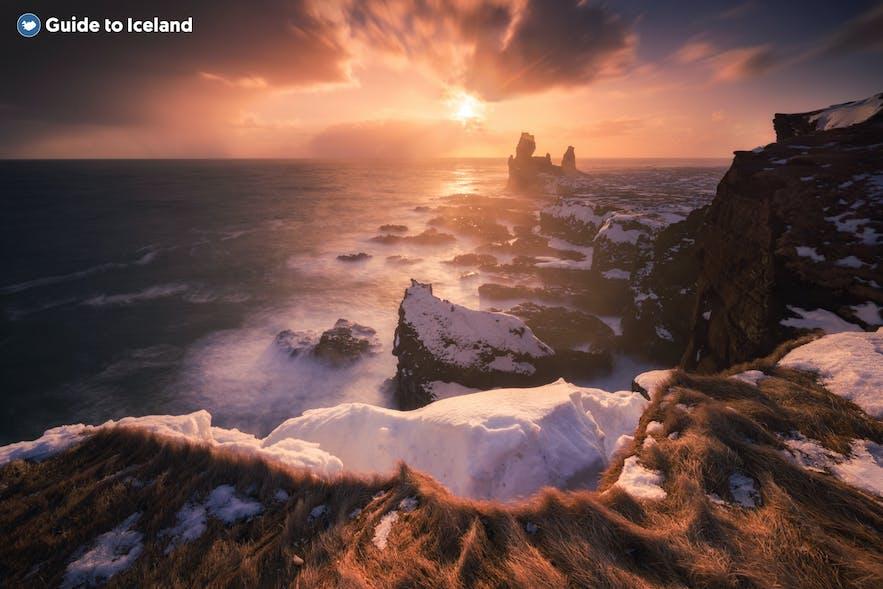 Londrangars klippformationer på halvön Snæfellsnes