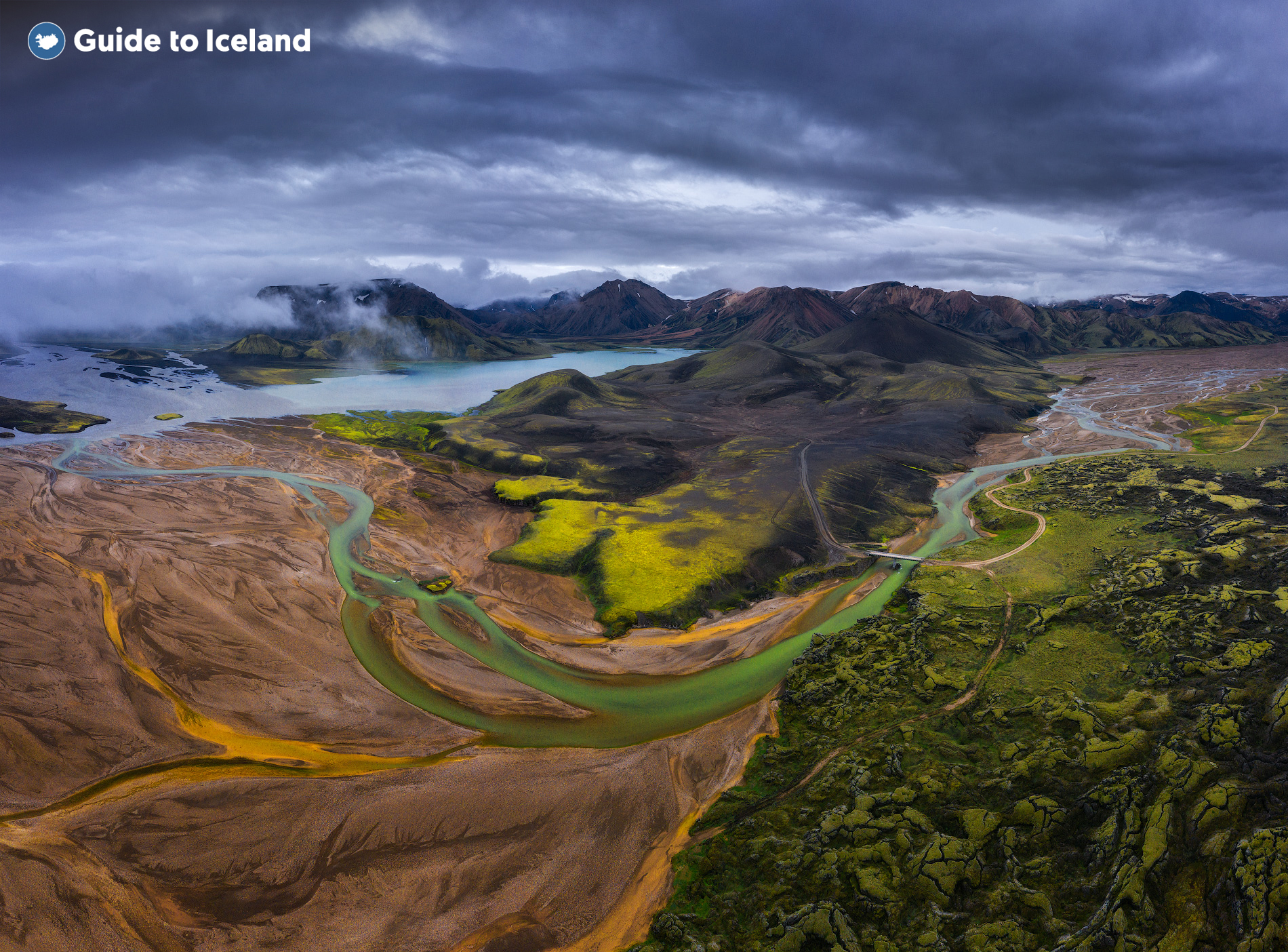 Landmannalaugar is the most popular region of the Icelandic central highlands.