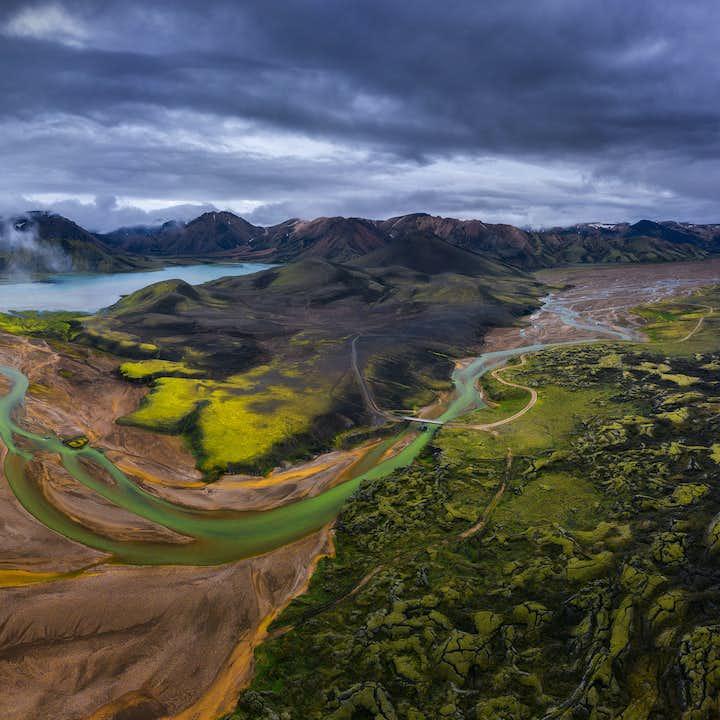 Landmannalaugar is the most popular region of the Icelandic central highlands.
