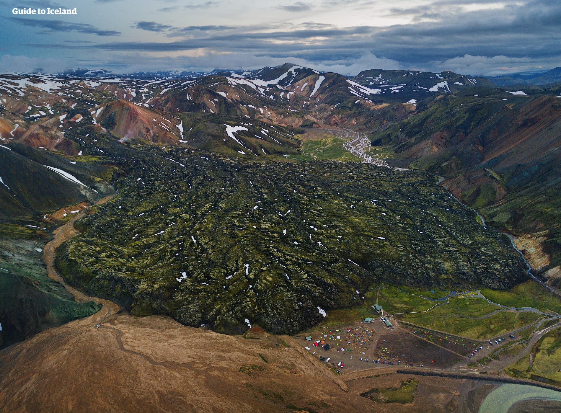 여름에만 진입 가능한 이슬란드의 중앙 고원지대.