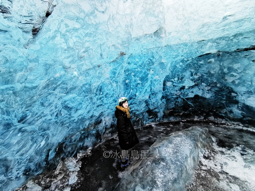 冰島冬季特有冰川藍冰洞