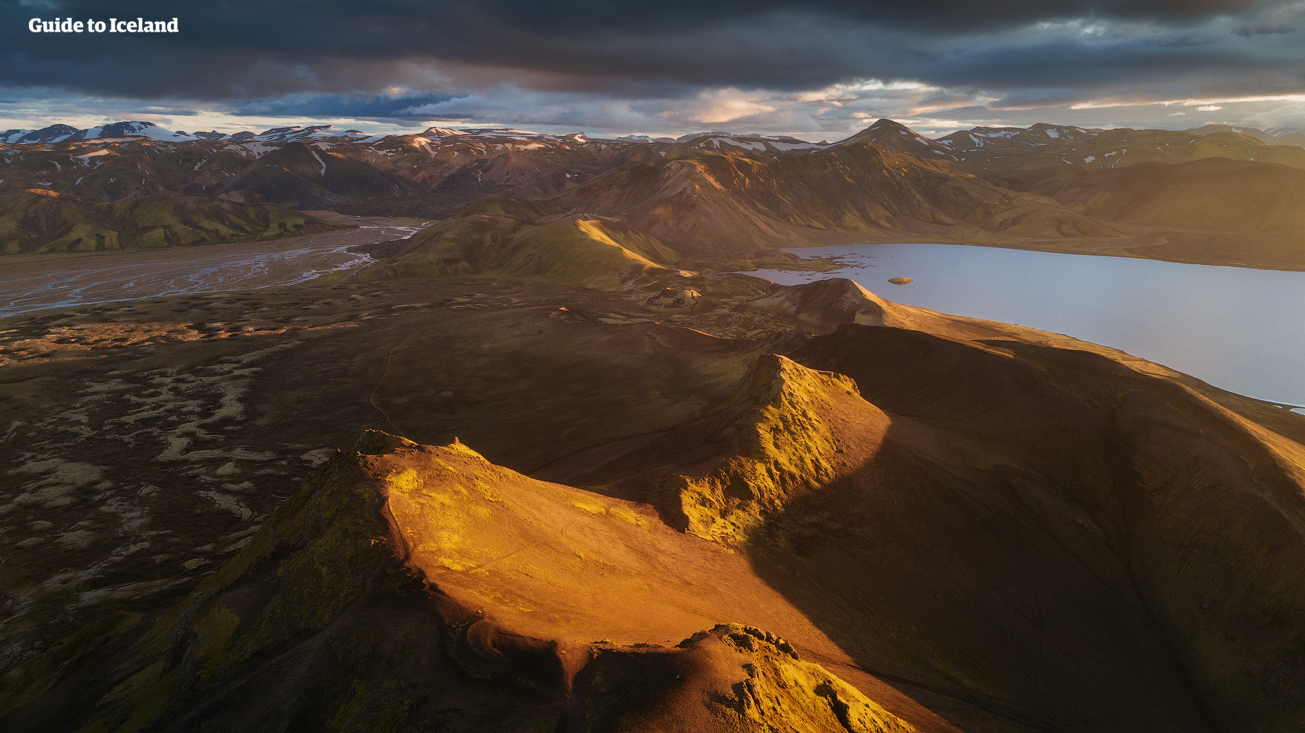 The mountains of the Icelandic Highlands.
