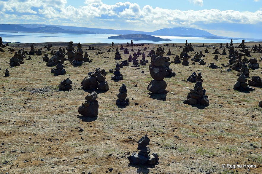 Tourist cairns or warts as they are sometimes called in Iceland