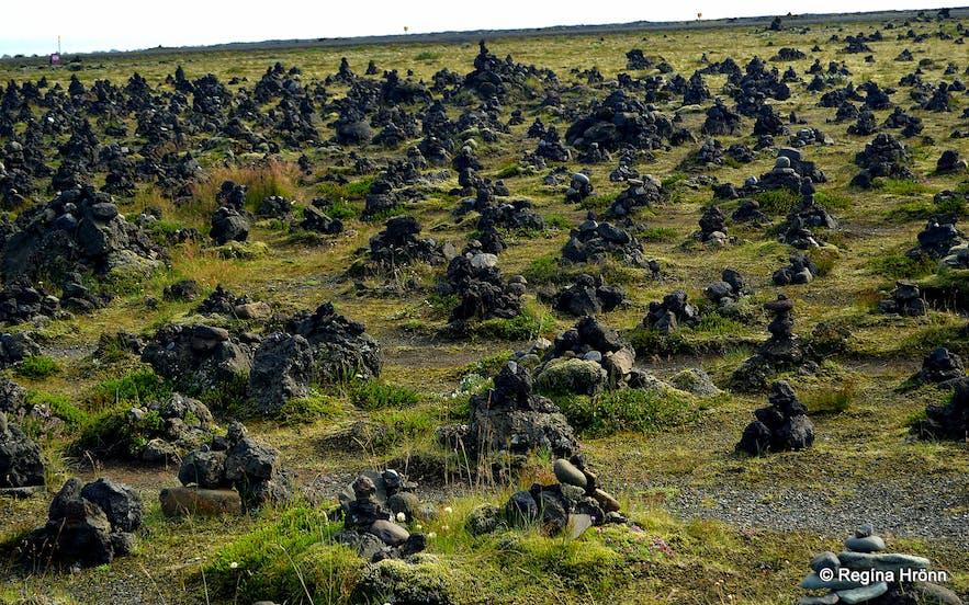 Laufskálavarða- the Cairn of Laufskálar in S-Iceland