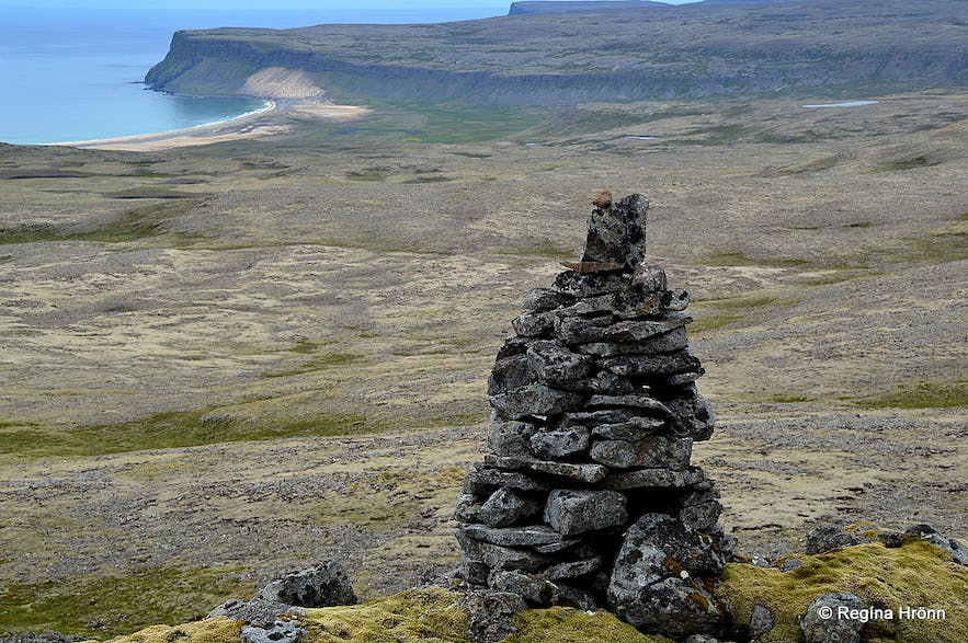 An old cairn close to Látrabjarg in the Westfjords