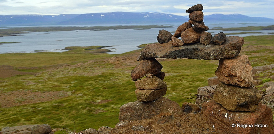 A tourist cairn in Snæfellsnes in West-Iceland :(
