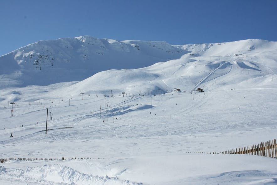 Hlíðarfjall is a mountain and ski resort in north Iceland.