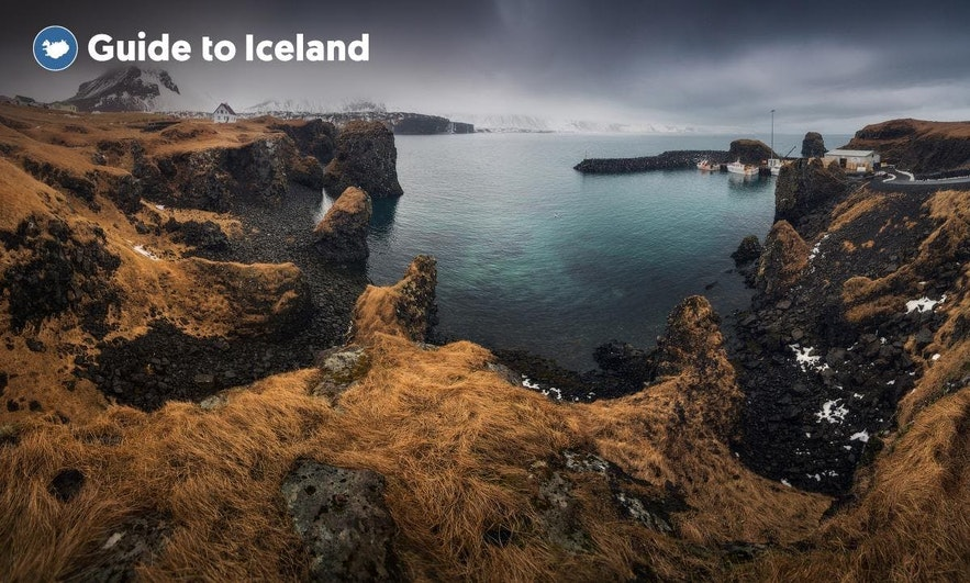Arnarstapi village in West Iceland