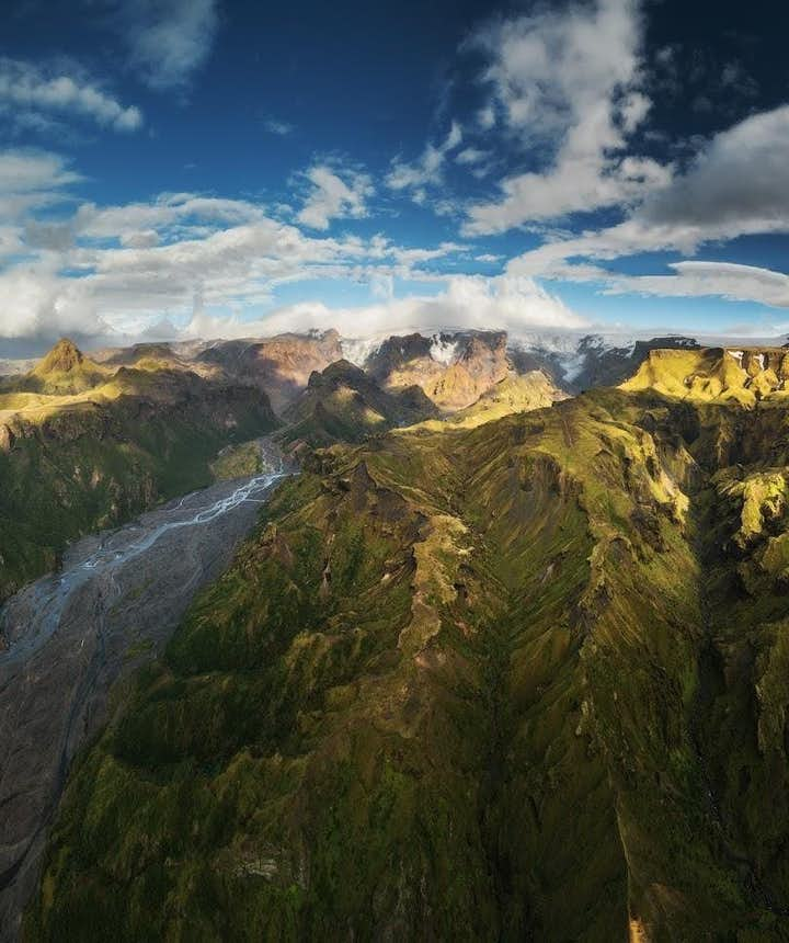 Rugged mountains in the Icelandic highlands