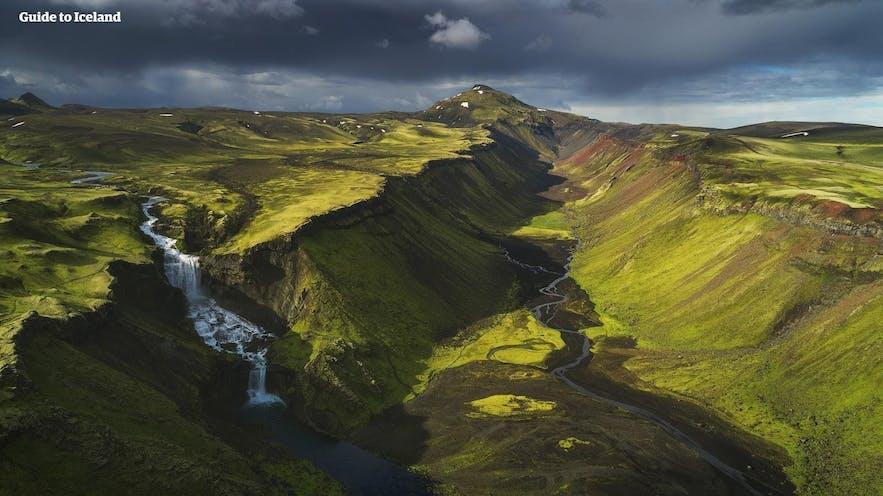 Das weite isländische Hochland