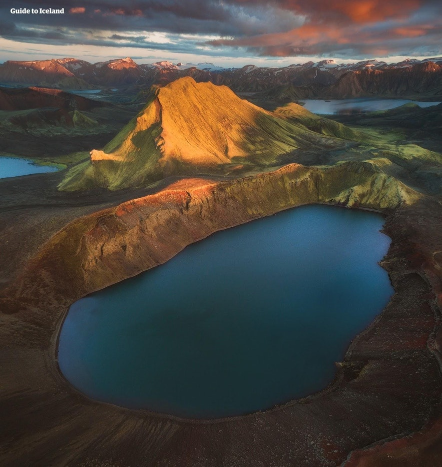 A crater lake in the highlands