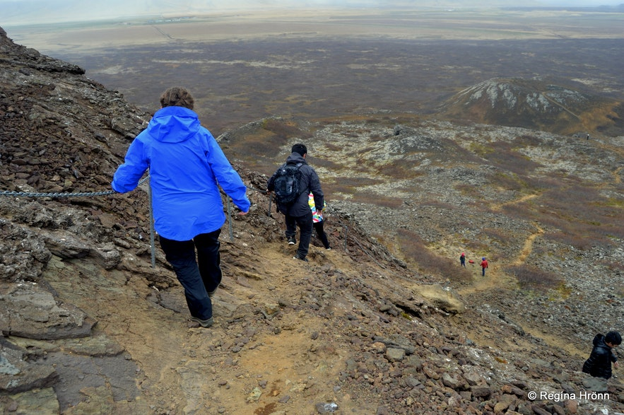Hiking on Eldborg crater