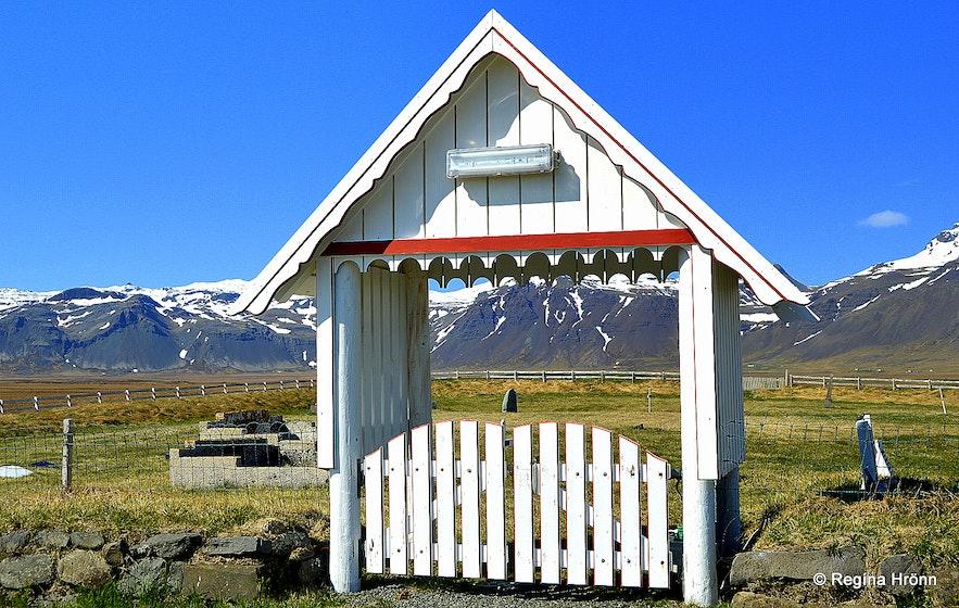 Staðastaður graveyard Snæfellsnes
