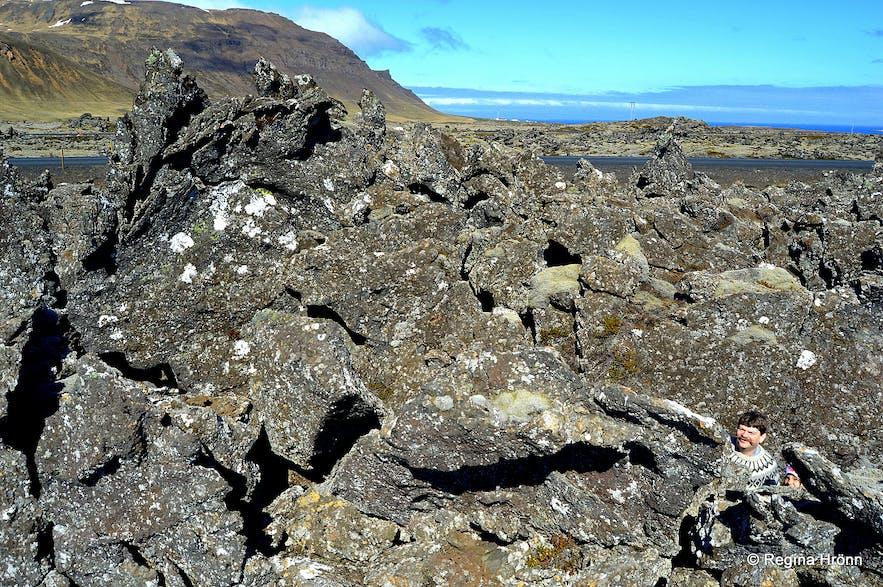Berserkjahraun lava field on the north side of Snæfellsnes peninsula, west Iceland