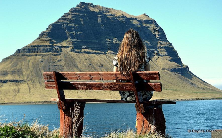 Regína by Mt. Kirkjufell Grundarfjörður