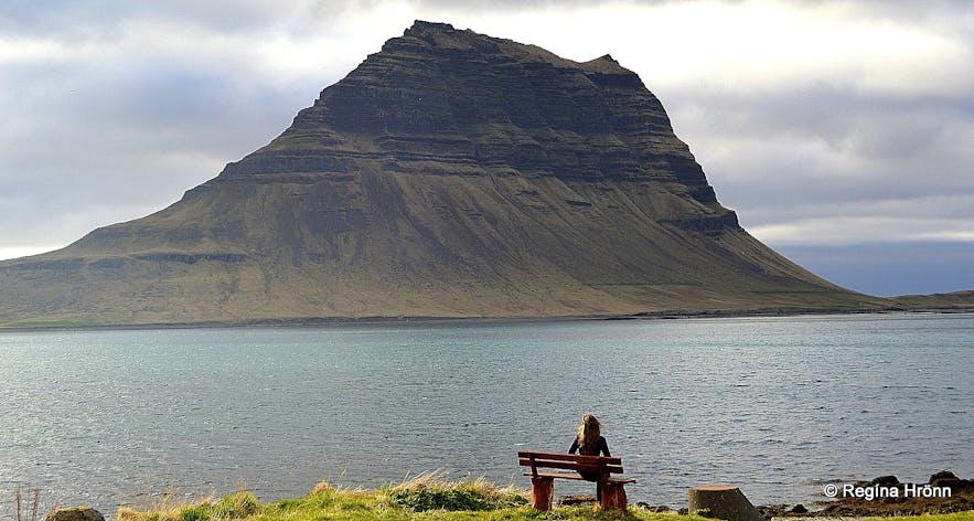 Regína and Mt. Kirkjufell in Grundarfjörður