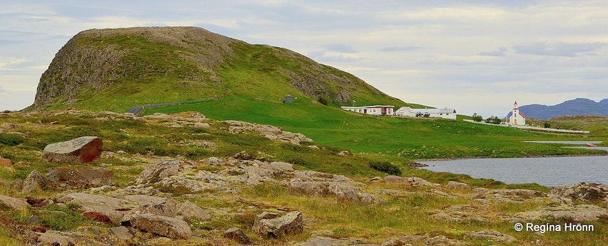 Helgafell holy mountain on Snæfellsnes peninsula, west Iceland