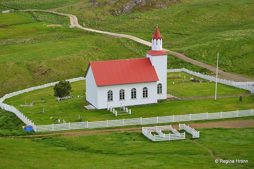Mt. Helgafell and Helgafellskirkja church Snæfellsnes