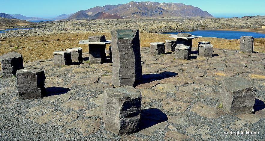 Picnic area on Vatnaleið Snæfellsnes