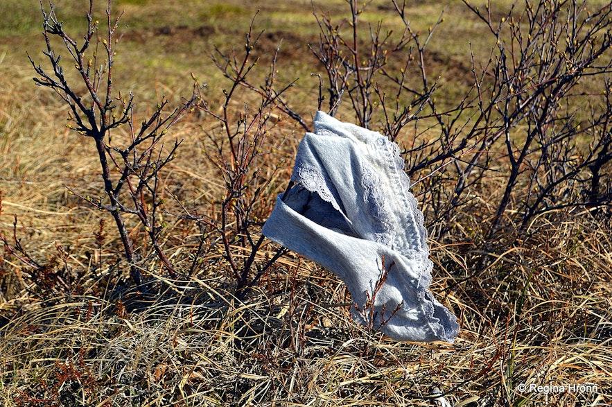 Panties blowing in the wind by Landbrotalaug
