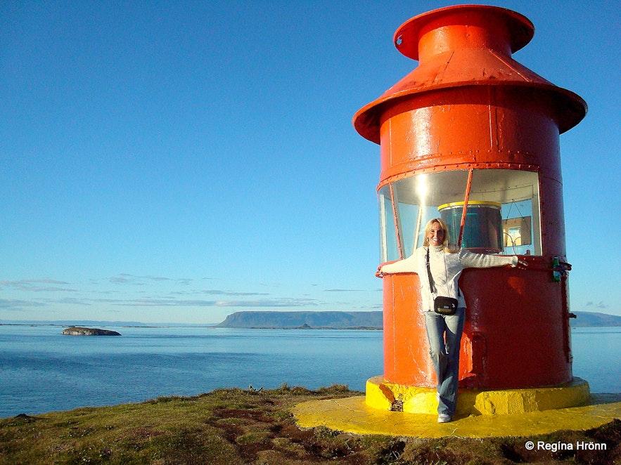 Regína By the lighthouse on Súgandisey island