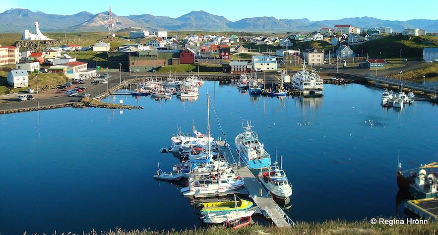 Súgandisey island- the view of Stykkishólmur