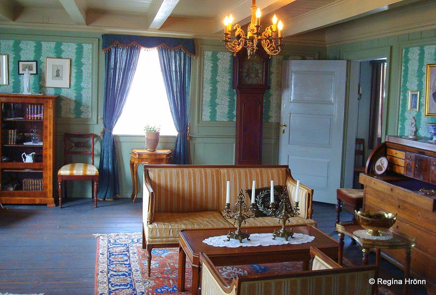 Inside the Norwegian house Stykkishólmur