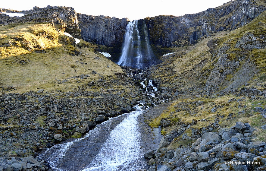 Bæjarfoss waterfall Ólafsvík village on the Snæfellsnes peninsula
