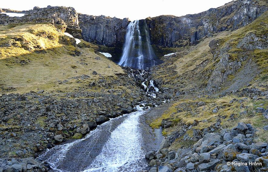 Bæjarfoss waterfall, Ólafsvík, Snæfellsnes