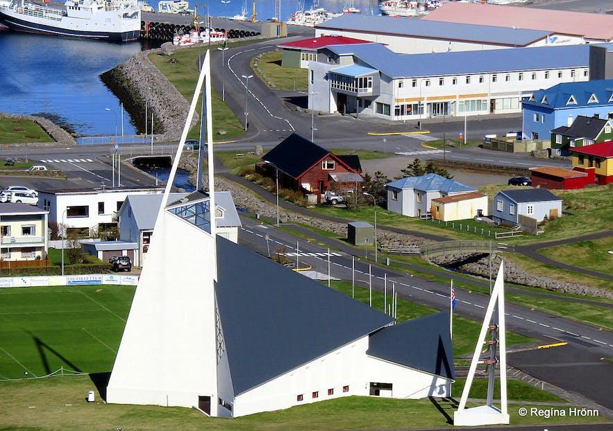 Ólafsvikurkirkja church Ólafsvík village on the Snæfellsnes peninsula