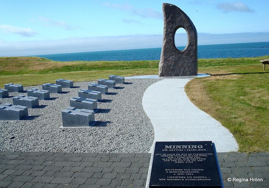 The monument for drowned fishermen in Ólafsvík