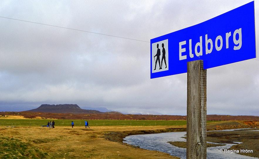 Hiking to Eldborg crater