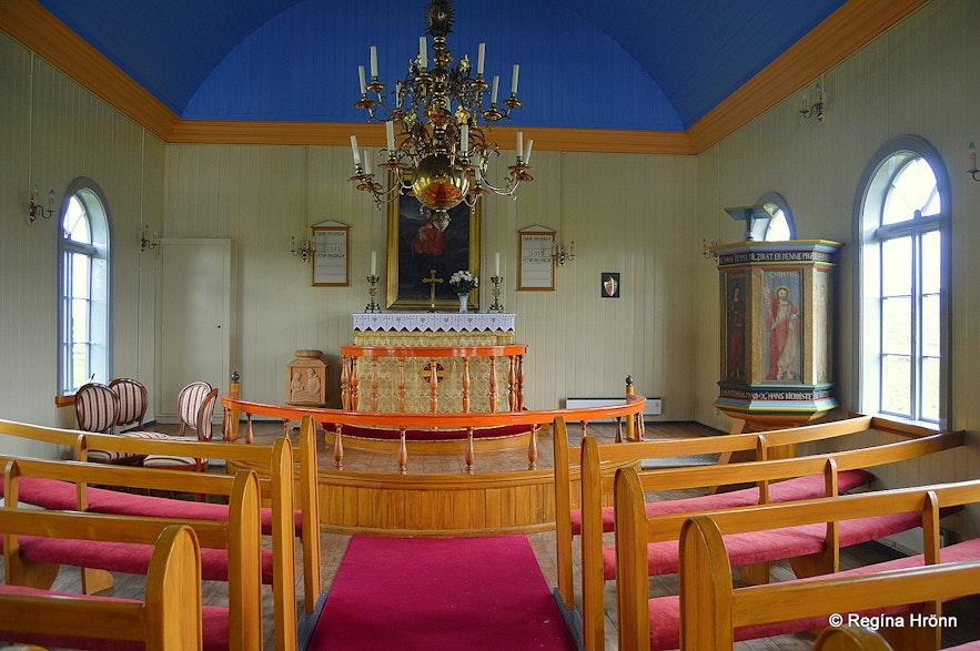Inside Helgafellskirkja church Snæfellsnes