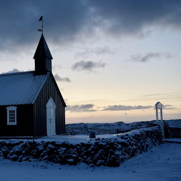 The black church of Budir on the Snaefellsnes Peninsula