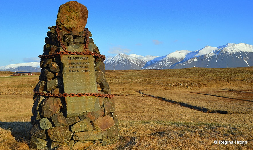 The Saga of Egill, the cairn at Ánabrekka in West-Iceland