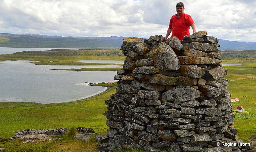 Grettisvarða cairn in Vatnsfjörður Westfjords