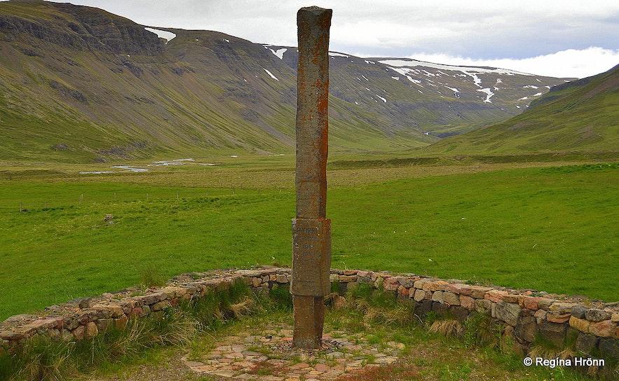 The monument of Snorri Sturluson at Hvammir in Dalir